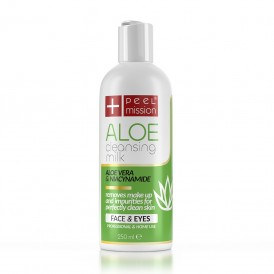 Peel Mission Aloe Cleansing Milk mleczko do demakijażu z aloesem bezpieczne dla oczu 250ml